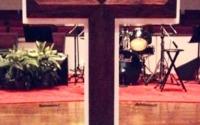 wooden cross, custom-made sanctuary furniture
