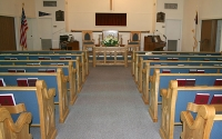 sanctuary furniture, custom made upholstered pews, pulpit furniture