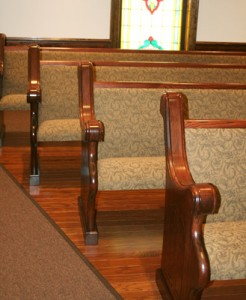 Upholstered Church Pews