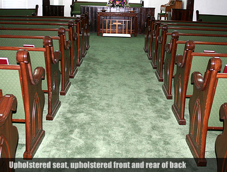 custom sanctuary furniture, upholstered church pews