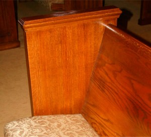Finished Church Pew