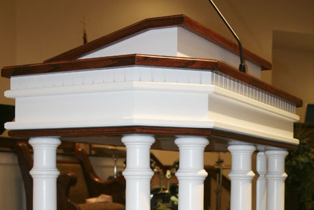 custom sanctuary pulpit furniture, sermon platform