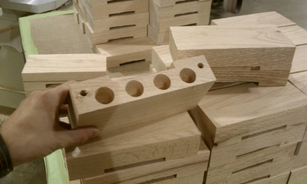 Cup Blocks for Church Pews